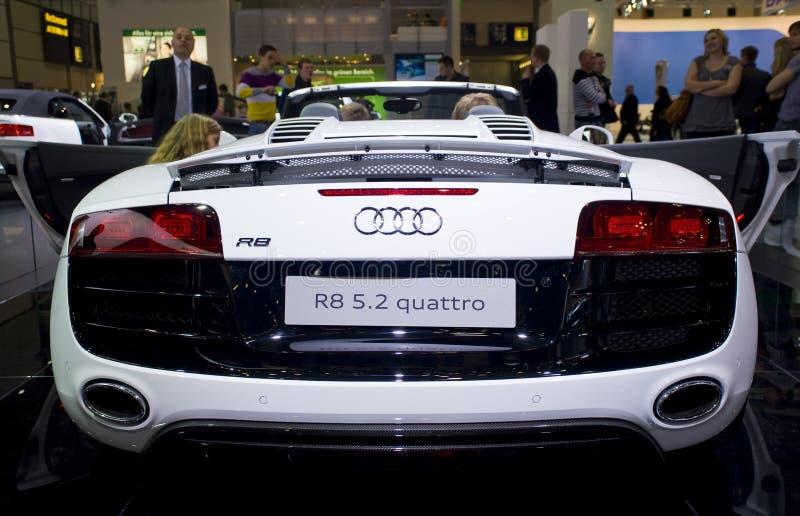 audi汽车新的quattro r8炫耀spyder 库存图片