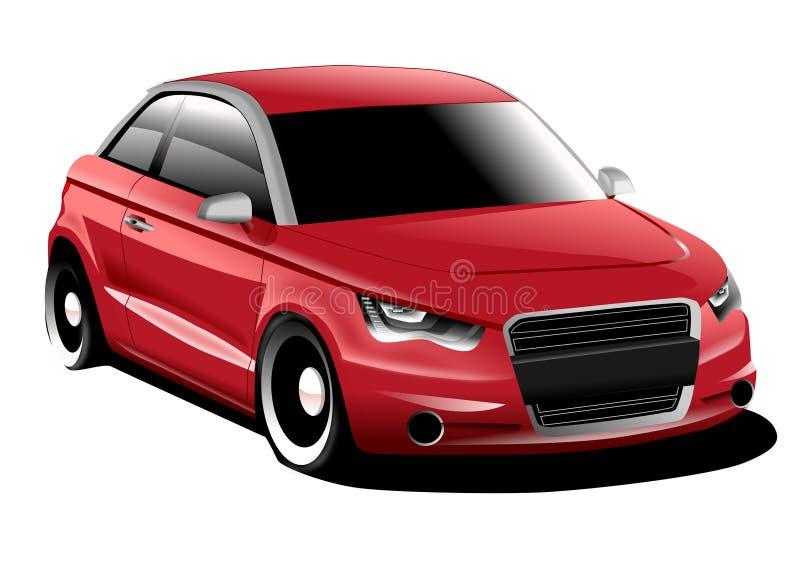 Audi A1 compact car royalty free illustration