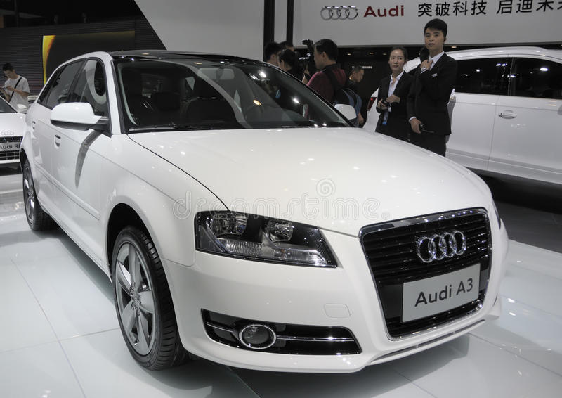 Download Audi A3 editorial stock image. Image of auto, presentation - 25347169