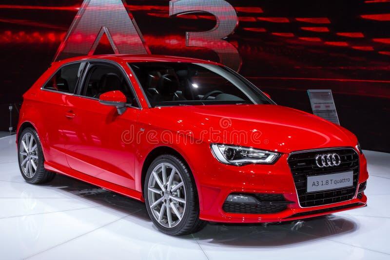 Audi A3 in Geneve AutoSalon 2012 stock afbeelding