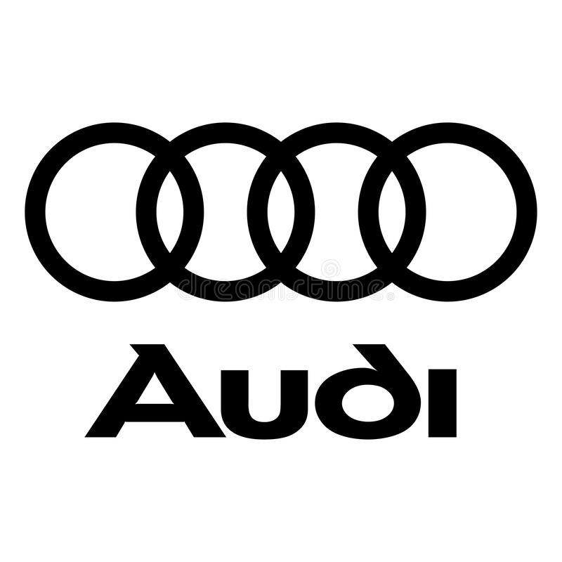 Audi logo icon. Audi AG is a German automobile manufacturer that designs, engineers, produces, markets and distributes luxury vehicles. Audi is a member of the