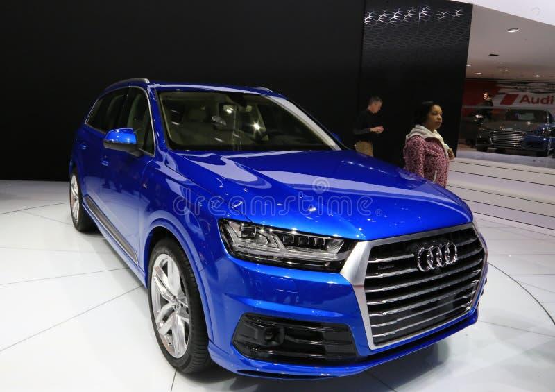 Audi all'esposizione automatica fotografia stock libera da diritti