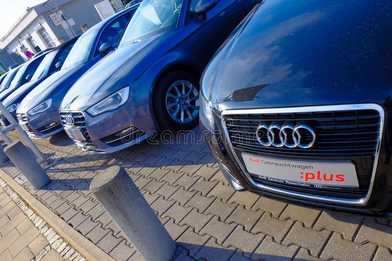 Audi-auto's stock foto's
