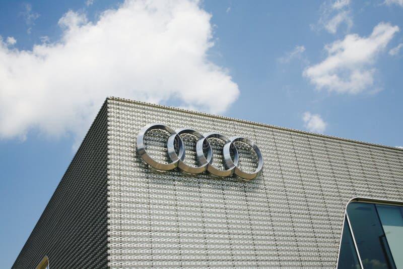 Audi Automobile Corporation Logo arkivfoton