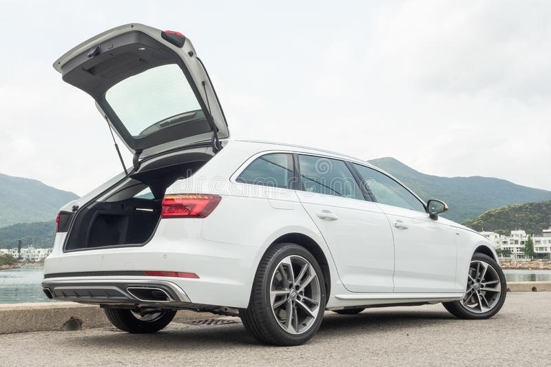 Audi A4 Avant 40 ημέρα τεστ δοκιμής στοκ φωτογραφία