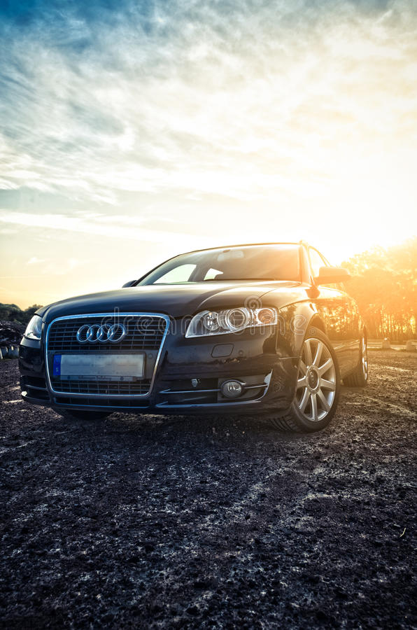 Audi A4 avant. Outside in the sun royalty free stock photos