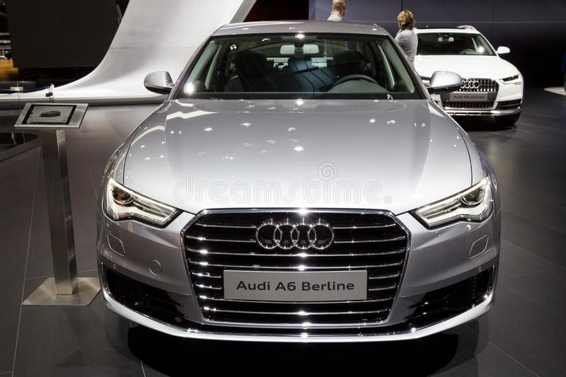 Audi A6 Berline bil royaltyfria bilder