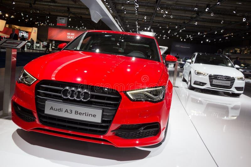 Audi A3 Berline en Audi A3 Sportback stock afbeeldingen