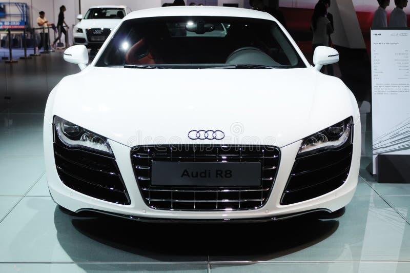 Audi bianco r8 fotografia stock