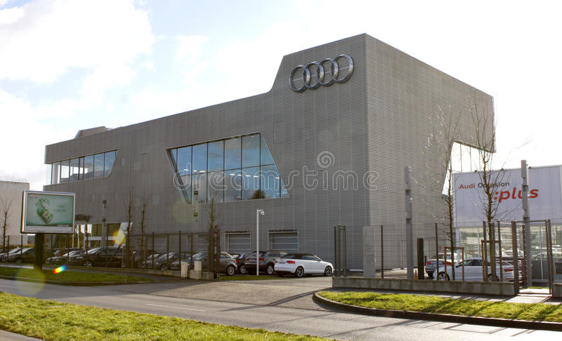 AUDI Company. Audi AG is a German automobile manufacturer that designs, engineers, produces, markets and distributes luxury automobiles. Audi oversees worldwide stock image
