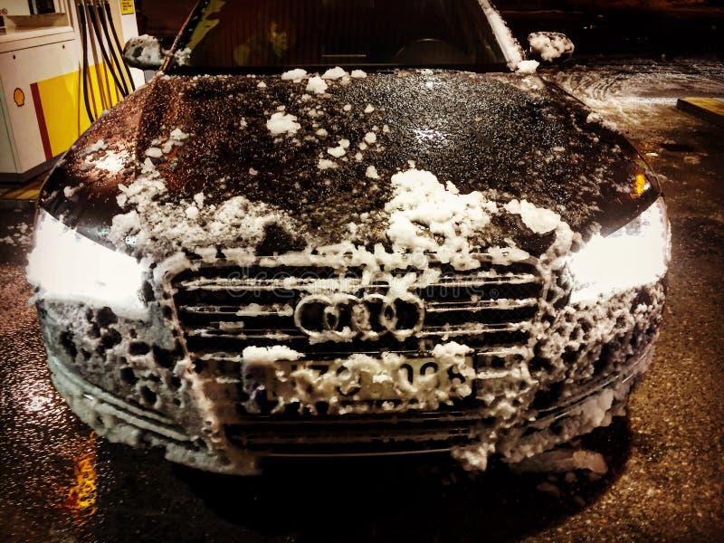 Audi contro la Norvegia immagine stock