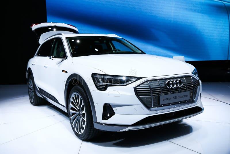 Audi e-Tron 55 Quattro imagens de stock royalty free