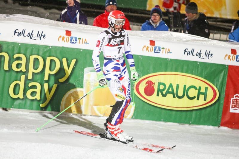 Audi FIS pucharu świata dam slalomu meta obrazy royalty free
