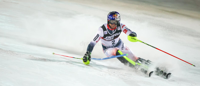 Audi Fis Ski World Cup 2020 Mens Slalom 2nd run royalty free stock photos