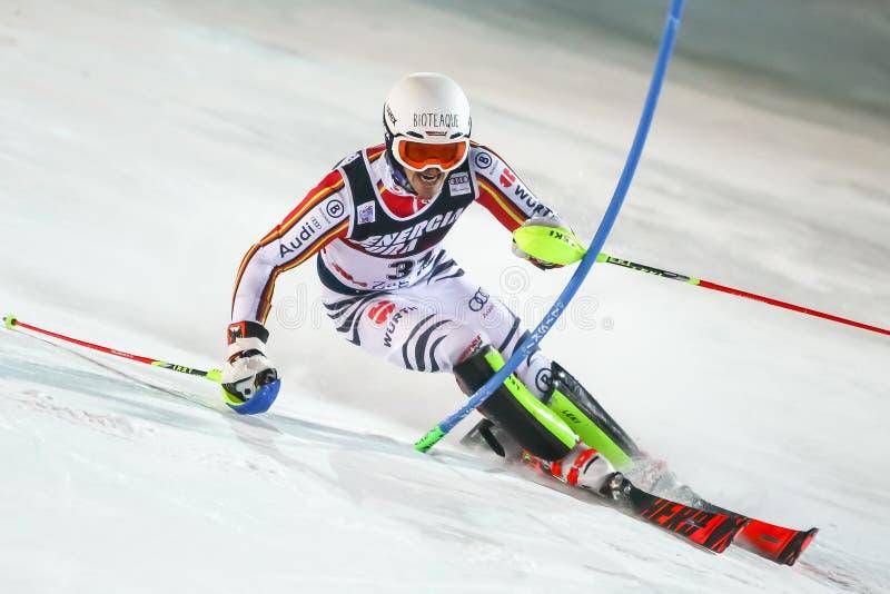 Audi Fis Ski World Cup 2020 Mens Slalom 2nd run royalty free stock photography