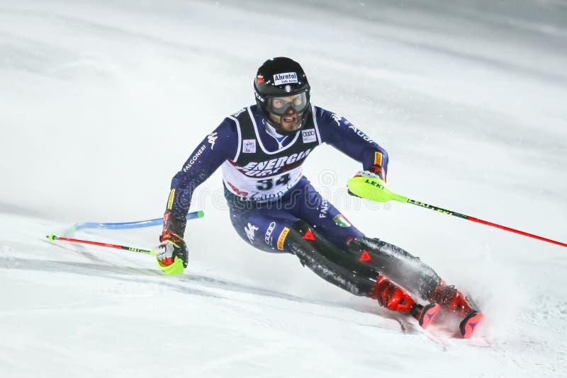 Audi Fis Ski World Cup 2020 Mens Slalom 2nd run stock photos