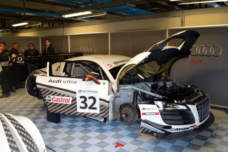 Download Audi garage redaktionell arkivfoto. Bild av race, mästerskap - 27276458