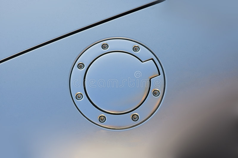 Audi Gas Cap. Audi TT gas cap in chrome stock photo