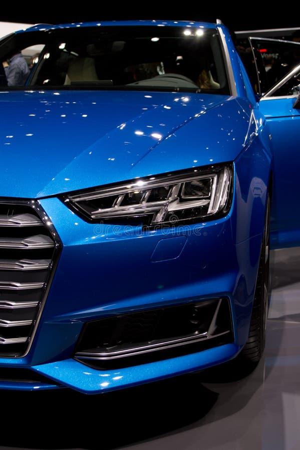 Audi A6 at Geneva 2017 stock photos