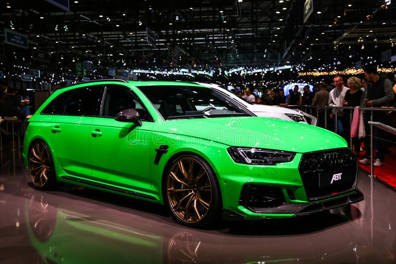 Audi a6 fotografia stock