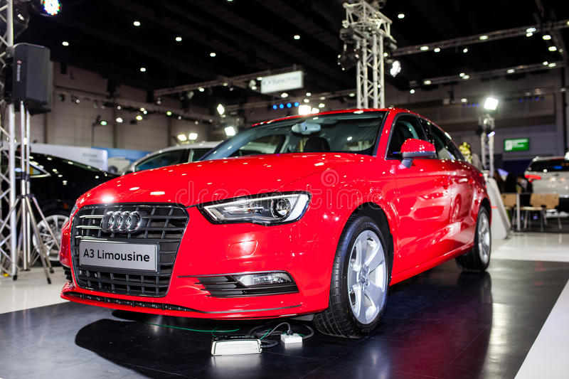 The Audi A3 Limousine stock photography