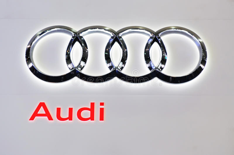 Audi logo. Road to China's West - 13th Chengdu Motor Show, September 18th-24th, 2010 stock image