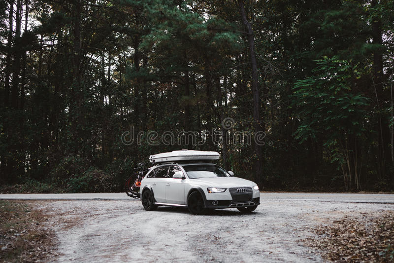 Audi Luxury Car In Forest Free Public Domain Cc0 Image