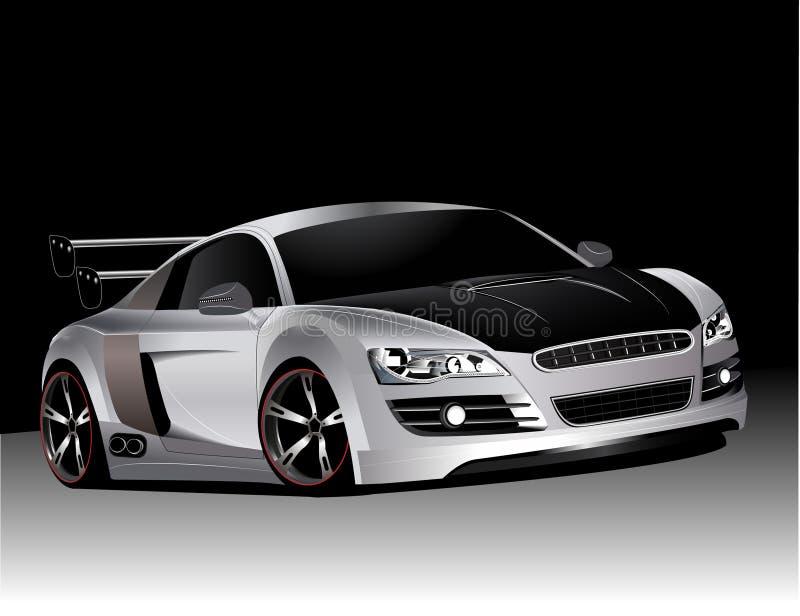 Audi modificado para requisitos particulares r8   ilustración del vector