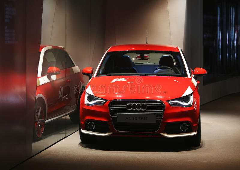 Audi A1, exposition hall photo libre de droits