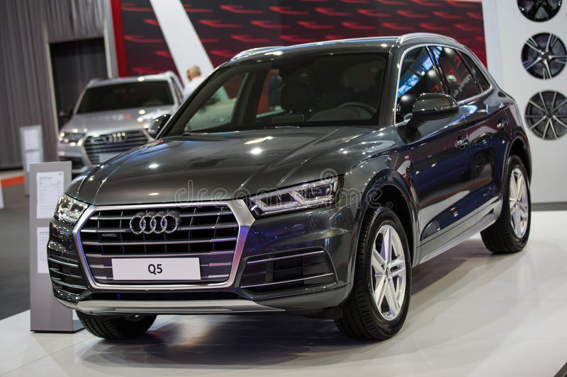Audi Q5. Belgrade, Serbia - March 23, 2017: New Audi Q5 presented at Belgrade 53th International Motor Show - MSA OICA stock photo