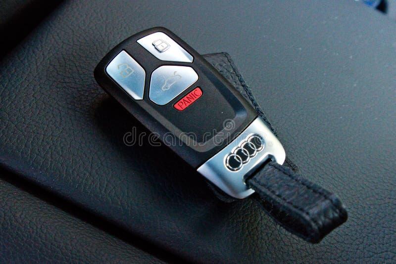 Audi Q5 2017 klucz obrazy royalty free