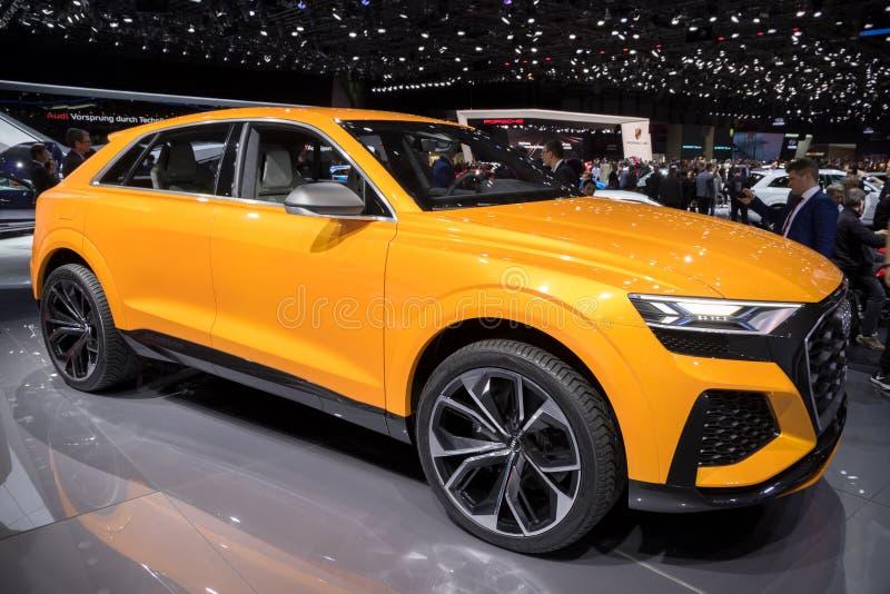 Audi Q8 sport concept car stock photography