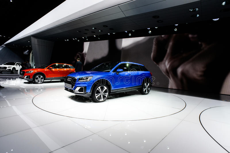 Audi Q2. At the 86th Geneva International Motor Show in March 2016 royalty free stock photos
