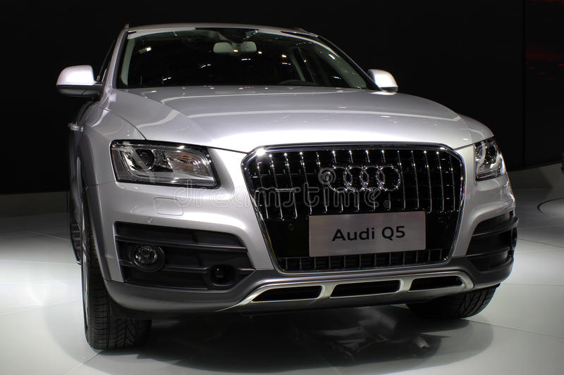 Audi Q5. An audi Q5 in 2013, the 17th in shenzhen - Hong Kong - macau international auto show royalty free stock photos