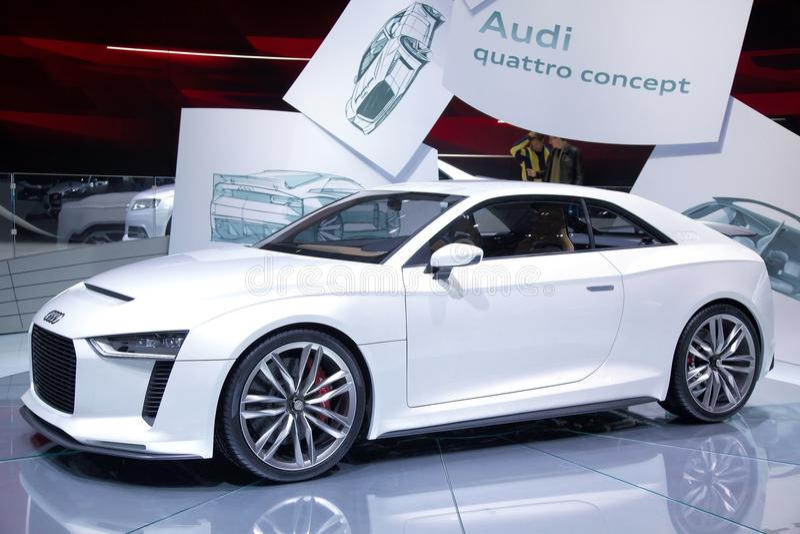 Audi quattro concept car royalty free stock photography