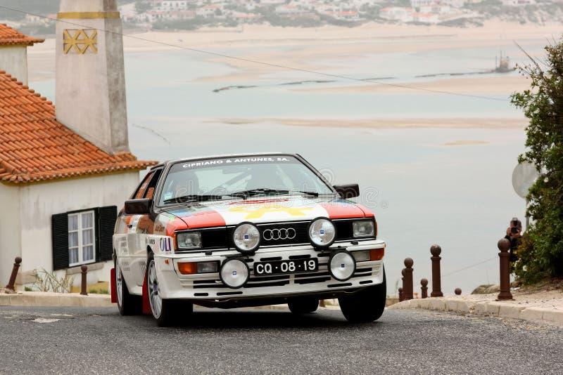 Audi Quattro durante a reunião Sprint foto de stock royalty free