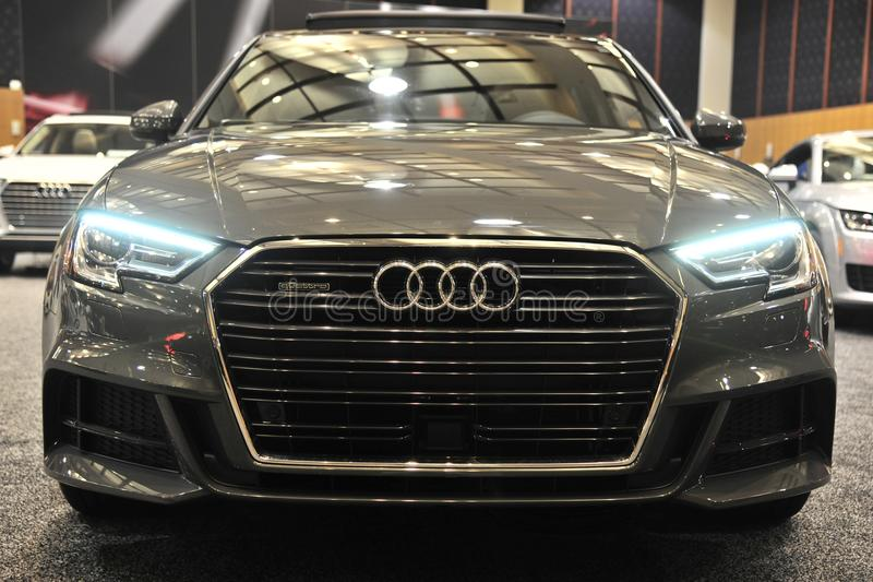 Audi Quattro Exotic Sports Car Front View foto de stock royalty free