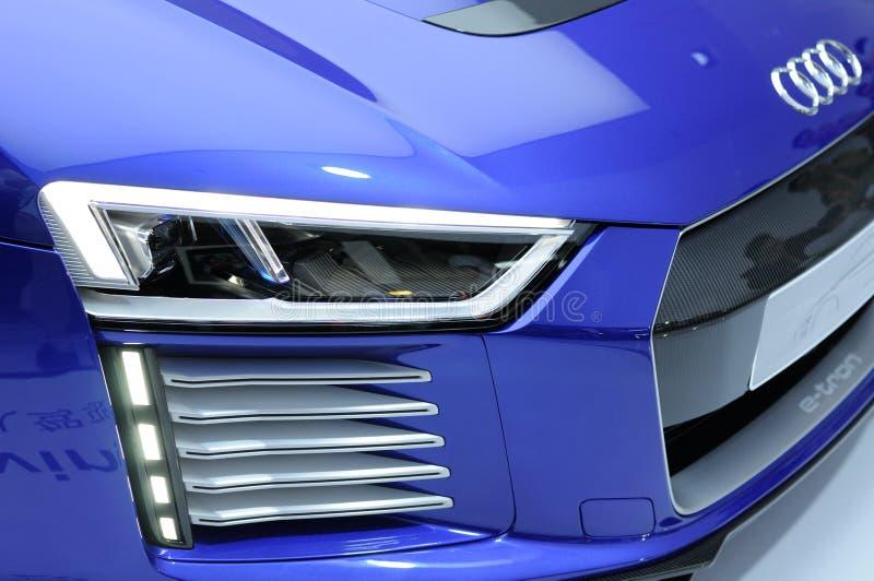 Audi R8 ε-Tron στοκ φωτογραφία