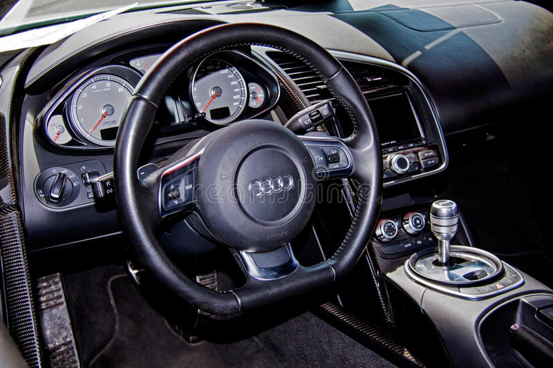 Audi R8 interior royalty free stock images
