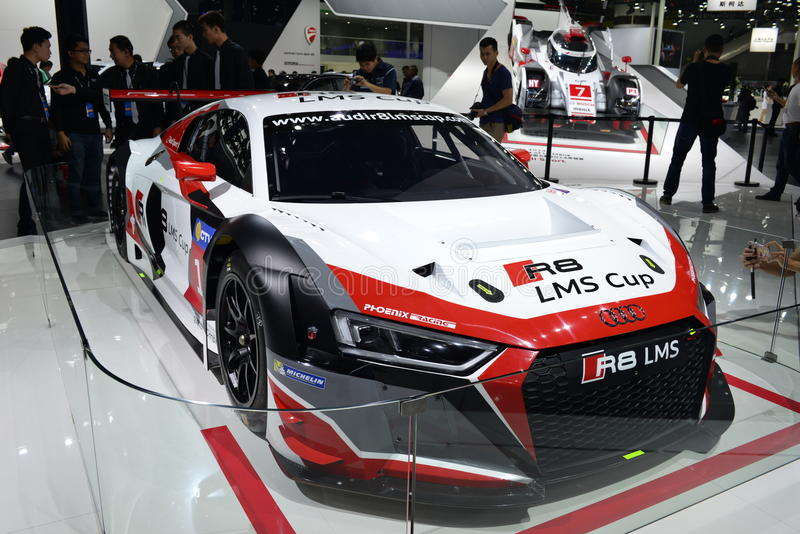 Audi R8 LMS samochód wyścigowy zdjęcia stock
