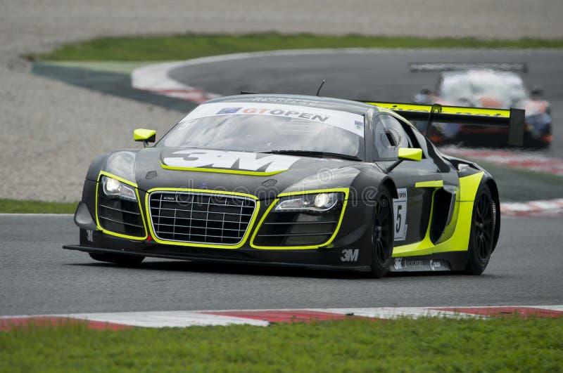 Audi R8 LMS ultra Zawody międzynarodowi GT OTWARTY fotografia stock