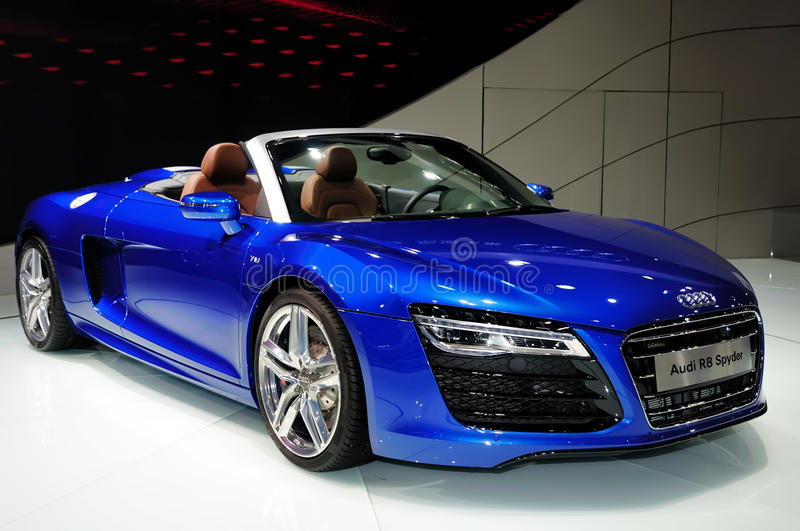 Download Audi R8 Spyder Convertible Sports Car Editorial Photography    Image Of Autoshow, Automobile: