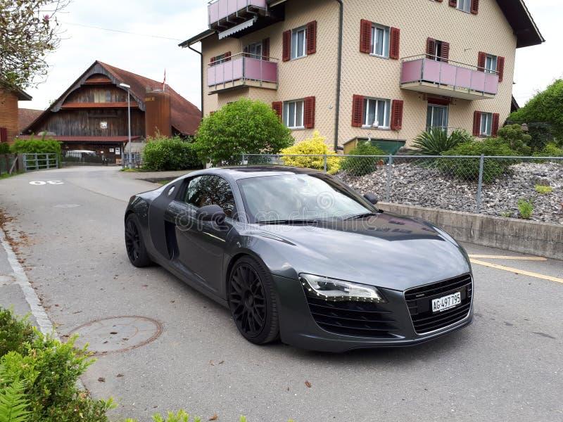 Audi r8 switzerland fotografia de stock