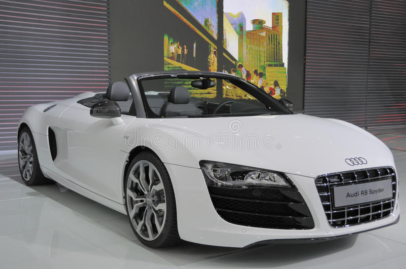 Audi R8. The Audi R8 is Supercar Import car Show on Sep 21, 2011 in chengdu stock image