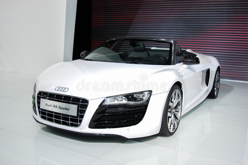 Audi R8. On the show royalty free stock image