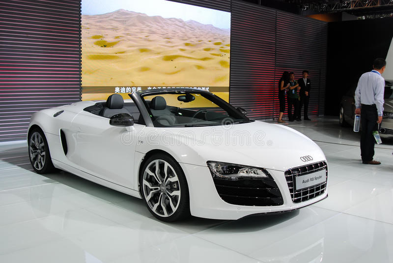 Audi R8. On the show stock photos