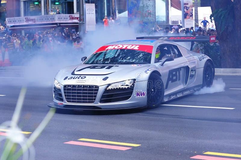 Audi R8 LMS que executa neutralizações foto de stock royalty free