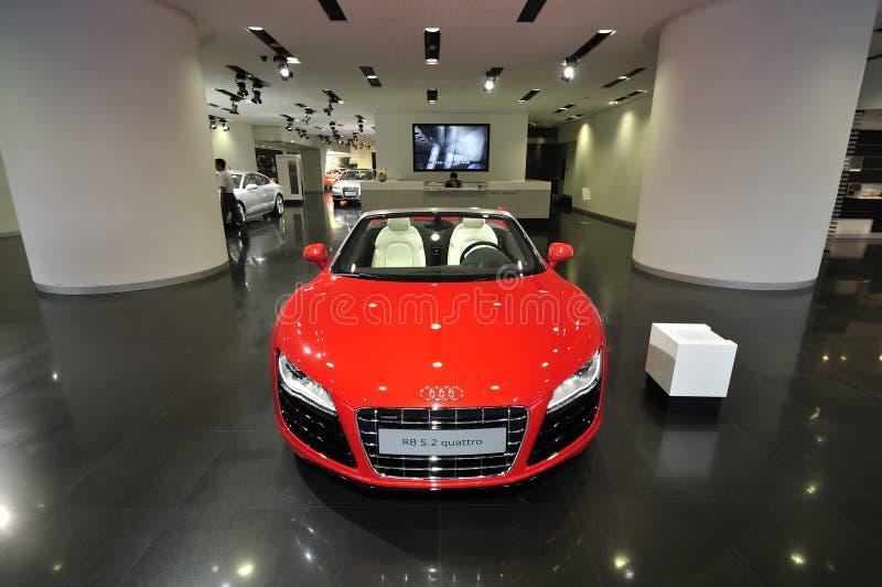 Audi R8, mässhall fotografering för bildbyråer