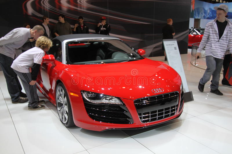 Download Audi R8 Spyder editorial image. Image of audi, styling - 18486545