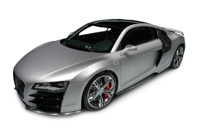 audi r8 sur le fond blanc photo stock image du brillant 7146508. Black Bedroom Furniture Sets. Home Design Ideas